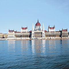Blick auf das Parlamentsgebäude von Budapest