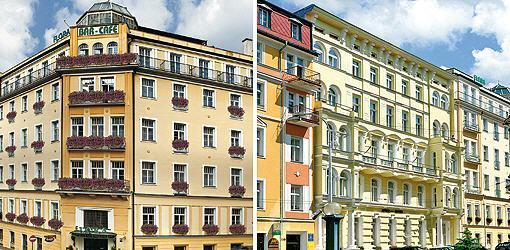 Doppelbild Hotel Flora und Hotel Maxim
